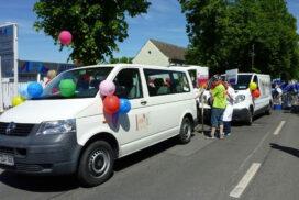 Parade zur 850-Jahr-Feier in Schwerin