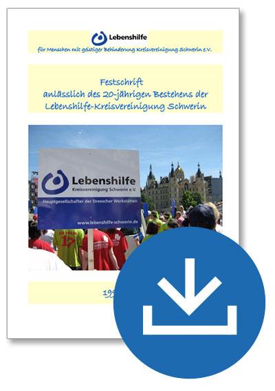 Titelseite der Festschrift zum 20-jährigen Betsehen der Lebenshilfe Schwerin
